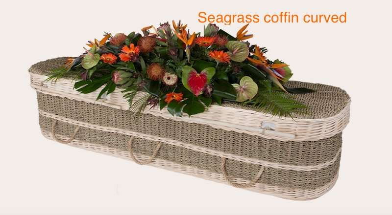 Seagrass coffin