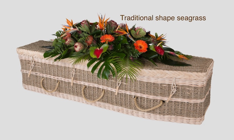 Traditional Seagrass coffin