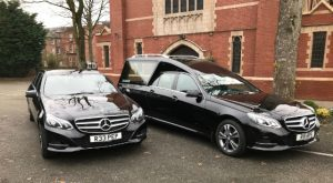 Mercedes hearse and limousine