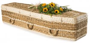 traditional shape banana leaf coffin