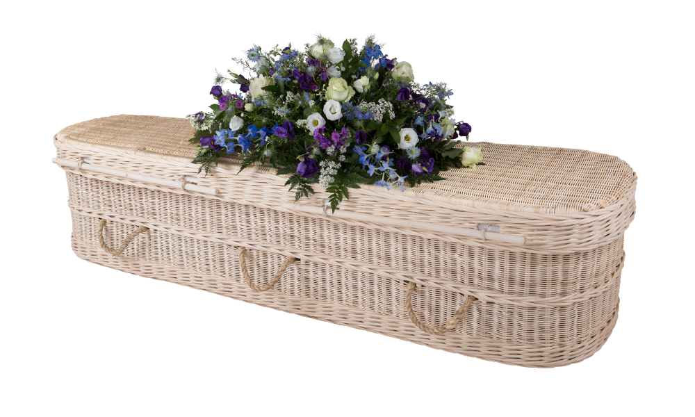 Cane coffin casket eco