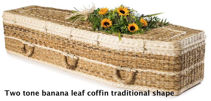 Two tone Banana leaf coffin